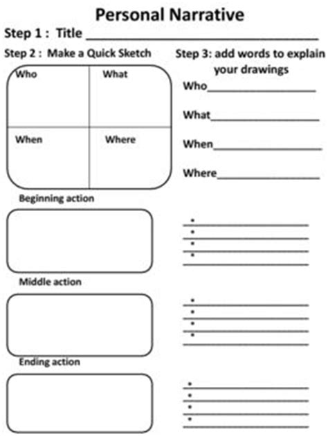 Narrative Essay Writing Graphic Organizers by Personal Narrative Graphic Organizers Personal Narratives Graphic Organizers And Narrative