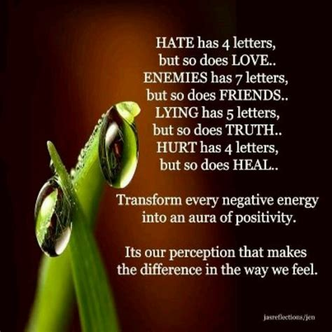 turn negative energy into positive energy negative energy