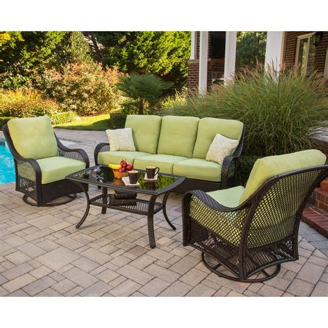 hanover orleans  piece deep seating group  cushions