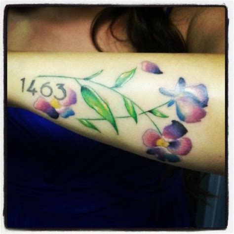 watercolor tattoo violets 57 best violets images on
