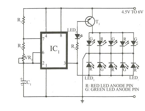 bi colour led running lights circuit diagram world bicolour led flasher circuit electronics project