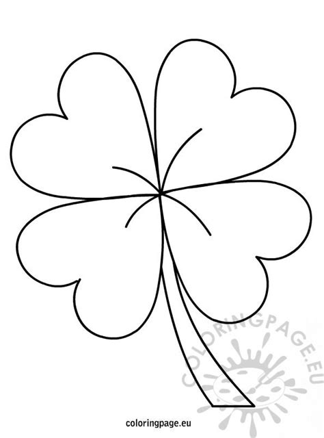 coloring pages of four leaf clover four leaf clover coloring page