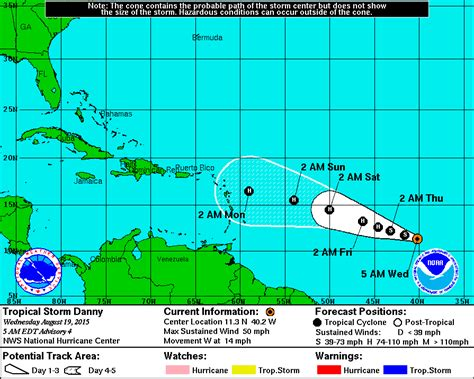 2015 projected path hurricane danny bvi hurricane news tropical storm danny strengthens bvi