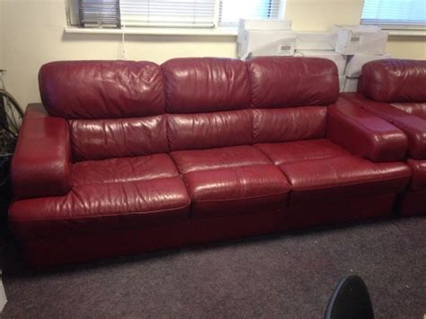 red leather sofa sale red leather sofa for sale in clondalkin dublin from alan5588