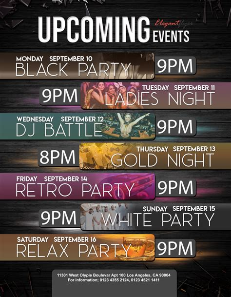 Upcoming Events Free Flyer Psd Template By Elegantflyer Upcoming Events Flyer Template