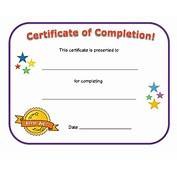 Free Printable Award Certificate Of Completion Template