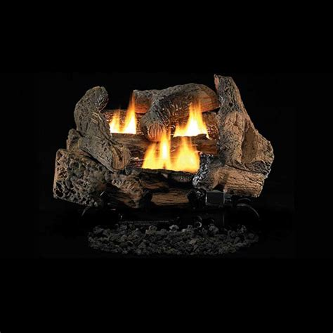 ceramic gas fireplace logs ihp superior golden oak ceramic fiber vf gas logs