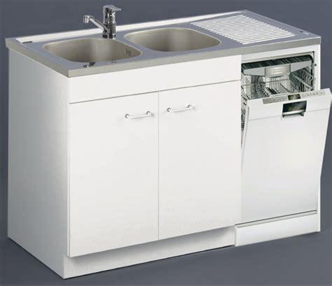 Charmant Cuisine Lave Vaisselle En Hauteur #4: Meuble-sous-evier-blanc-140cm-2p-lave-vaisselle-200161-ambiance-bd.jpg