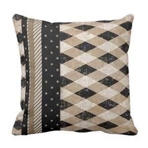 Chic Retro Pastel Mauve Taupe Black Argyle Pattern Pillows   Zazzler's Living Room Products