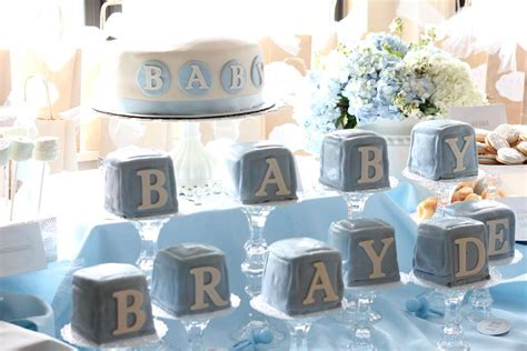 shabby chic boy baby shower party ideas photo 2 of 21