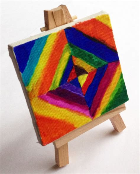 abstract pattern for mini projects mini canvas kandinsky diamond painting art projects for kids