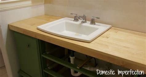 Diy Wood Bathroom Countertop by Simple Diy Wood Countertop Cm For The Home
