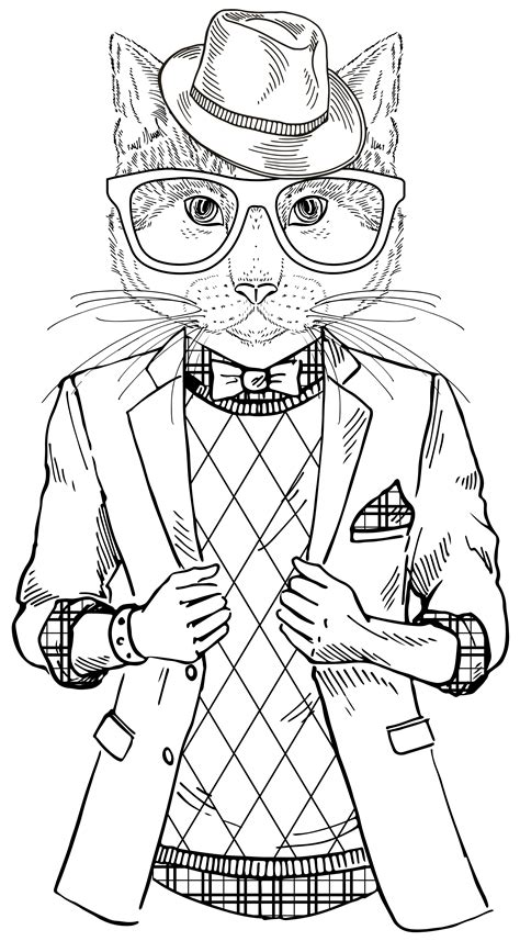 Cool Cats Coloring Pages | a cool cat from quot smooth operator quot coloring therapy