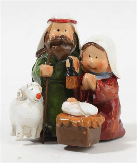 mini polystone christmas nativity set christmas and