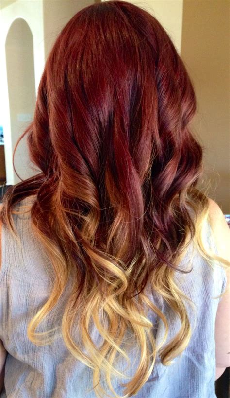 red to blonde ombre bob ombr 233 reds and blonde fireandice things i love