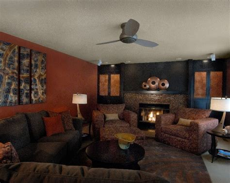 brown and orange living room modern burnt orange and brown living room images of wall