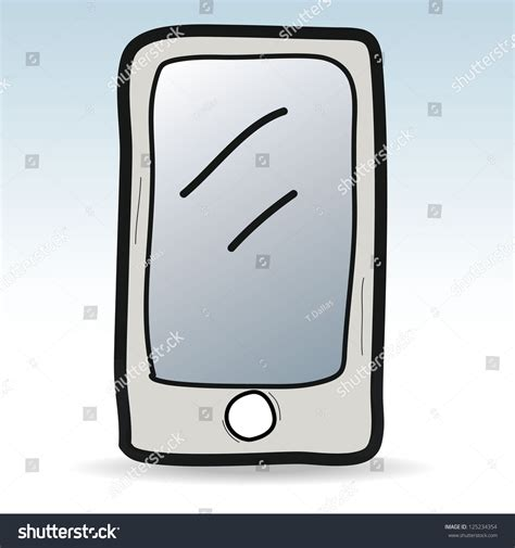 stock mobili mobile phone cartoondoodle vector illustration stock