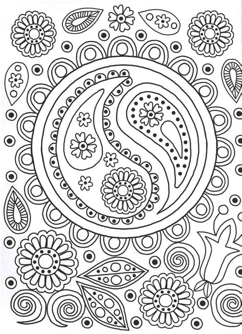 coloring patterns ying yang colouring page patterns colouring book