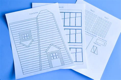 How To Make Paper Science Project - windmill model printable template adventure in a box