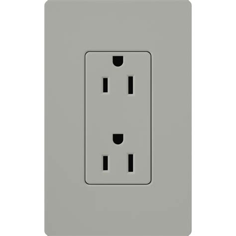 shop lutron 15 amp gray decorator single electrical outlet