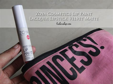 Lipstik Zoya Lip Paint zoya cosmetics lip paint lacquer lipstick velvet matte