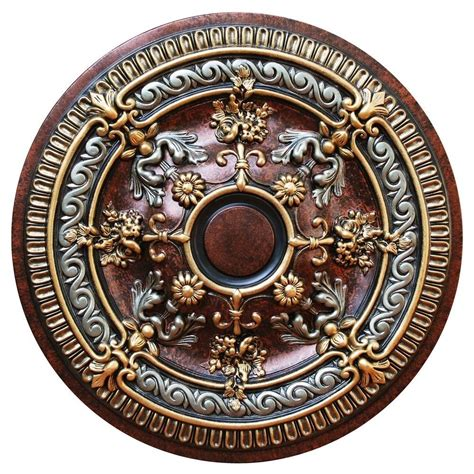Ceiling Medallion by Deco 26 1 4 In Blooming Gold Copper
