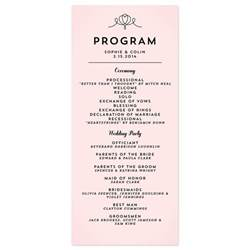 simple wedding programs exles classic penmanship wedding programs wedding programs