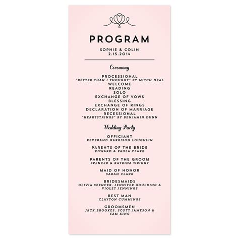 modern wedding program template classic penmanship wedding programs wedding programs
