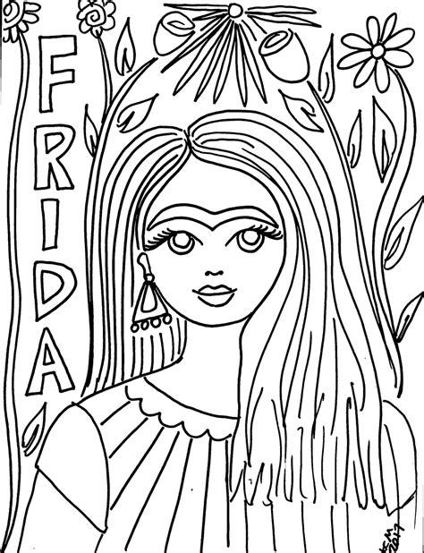 frida kahlo colouring books 379133994x free frida kahlo coloring pages she would have been 110 today crafty chica