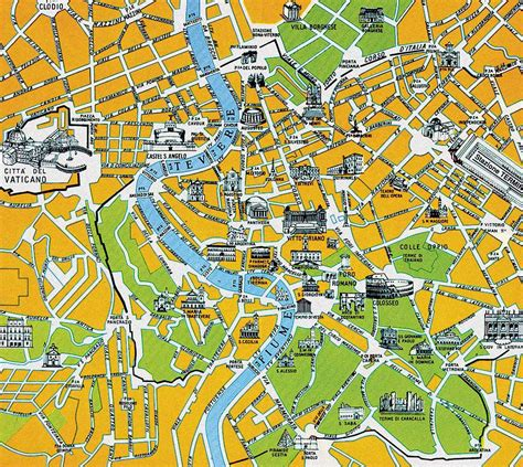 rome map tourist attractions rome italy tourist destinations