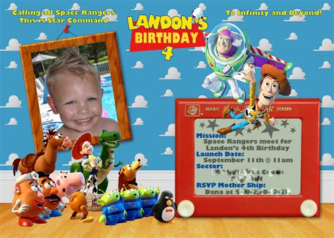 40th birthday ideas toy story birthday invitation