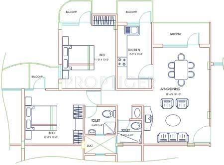 Kumaraswamy Layout Land Rates | 2 bhk 2t apartment for sale in gurupriya housing