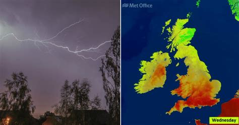 weather forecast from 30c heat to stormy downpours as
