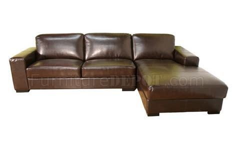 dark brown leather sectional sofa modern sectional sofa in dark brown leather