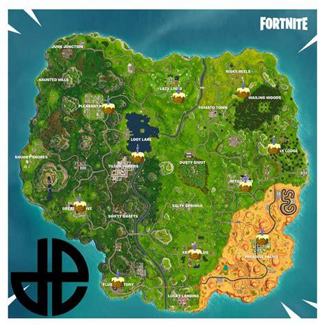 fortnite birthday cake all known birthday cake locations for the fortnite battle