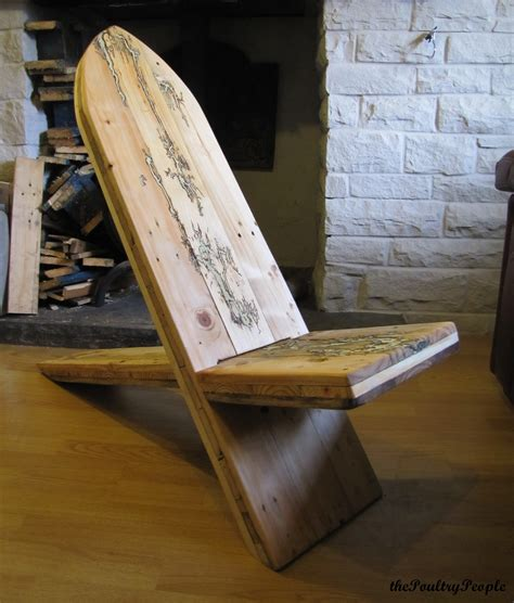 homemade recliner chair pallet viking chair with lichtenberg figure and glow in