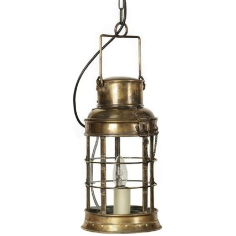 traditional watchmans lantern pendant in light