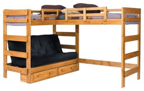 woodcrest heartland futon bunk bed with loft bed