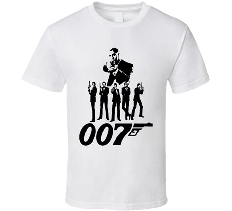 bond 007 vintage logo t shirt