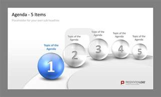 Powerpoint Agenda Template by Professional Ppt Agenda Template 5 Items To