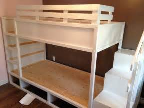 letto ikea kura ikea kura lifted and made into a bunk bed plus room for