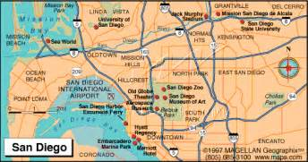 San Diego Tourist Map by San Diego Visitor Map