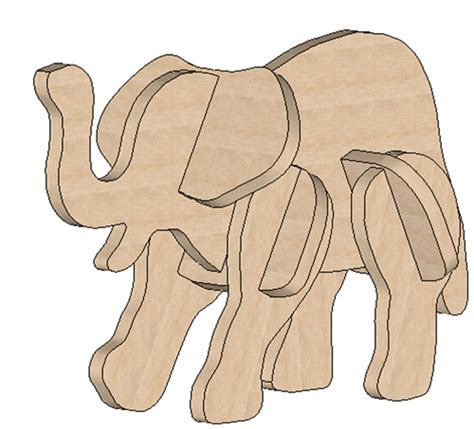wood elephant pattern elephant mini puzzle mini puzzles makecnc com