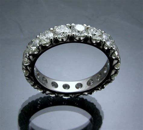 Handmade Eternity Rings - handmade eternity band by mona jewelers custommade