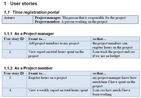 user story template word writing user stories for agile scrum projects revisited