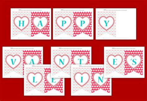 printable valentine banner free valentine s printables from unlimited party themes