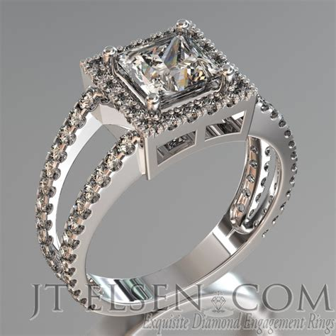 pave enagement rings antique style engagement ring
