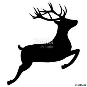 quot springender hirsch rentier silhouette jagd weihnachten quot stockfotos und lizenzfreie vektoren auf