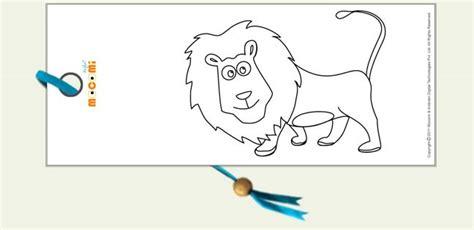 printable lion bookmarks smiling lion printable bookmarks for kids mocomi