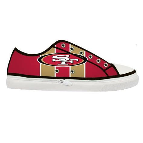 49ers shoes high top san francisco 49ers nfl custom canvas shoes for